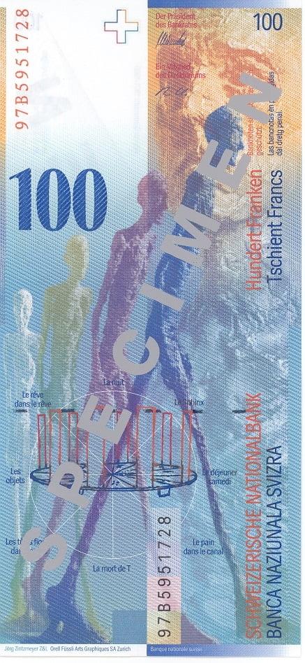 100 франків